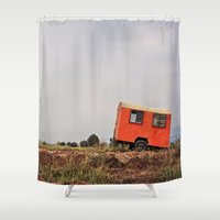 spanish Shower Curtains featuring Spanish Caravan  by Yehuda Swed