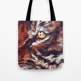 Tiger Fleur de Lis Tote Bag