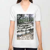 stone V-neck T-shirts featuring Stone by Casey Sprau