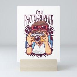 Im A Photographer Shutterbug Mini Art Print