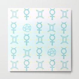 Pastel Gemini Metal Print