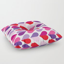 Love and Kisses in Ultra Violet Floor Pillow