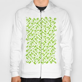 Control Your Game - White on Lime Hoody