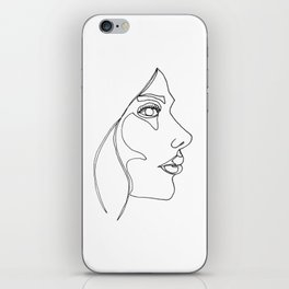 DISAPPOINTMENT ( ONE LINE DRAW) iPhone Skin