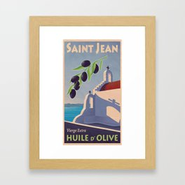 Saint Jean huile d'olive Framed Art Print