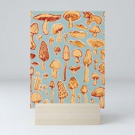 Digital Mushroom Collection Mini Art Print