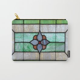 Stained Glass features a picture of a classic stained glass window typically found above a door Carry-All Pouch