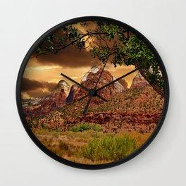 Zion National Park Work of Art Wall Clock