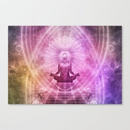 Spiritual Yoga Meditation Zen Colorful Canvas Print