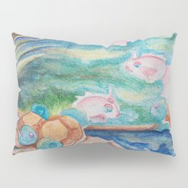 Pond With Squirtle And Goldeen Pillow Sham