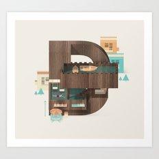 Resort Type - Letter D Art Print