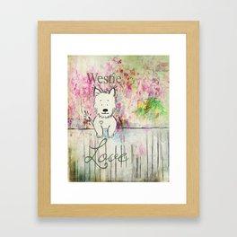 Westie Love ~ West Highland Terrier Framed Art Print