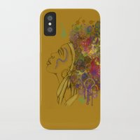afro iPhone & iPod Cases featuring Afro by KiraTheArtist