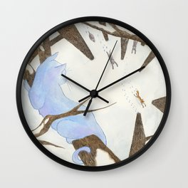 The Cat and The Fox Wall Clock