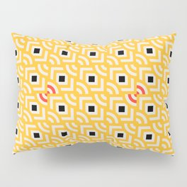Round Pegs Square Pegs Yellow Pillow Sham