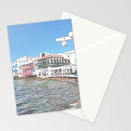 Mykonos Little Venice - Greece Stationery Cards