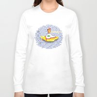 submarine Long Sleeve T-shirts featuring Yellow Submarine by Anaïs Rivola