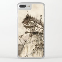 Steampunk House Clear iPhone Case
