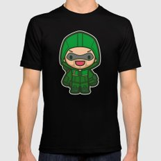 Green Archer Mens Fitted Tee SMALL Black