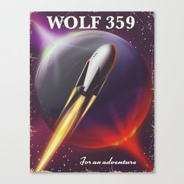 Wolf 359 Vintage science fiction space travel Canvas Print