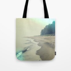 It was a foggy morning Tote Bag