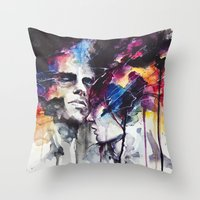 subway Throw Pillows featuring la nostra infinita abnegazione  by agnes-cecile