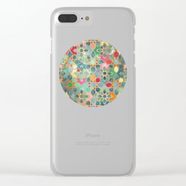 Gilt & Glory - Colorful Moroccan Mosaic Clear iPhone Case