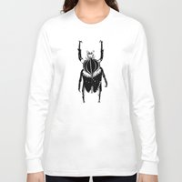 beetle Long Sleeve T-shirts featuring Beetle  by Lana Alana