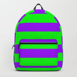 Green and Purple Stripes Backpack