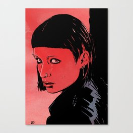 Lisbeth Salander Mara Rooney Canvas Print