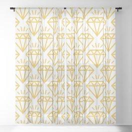 Diamond Jewel Pattern 237 yellow Sheer Curtain