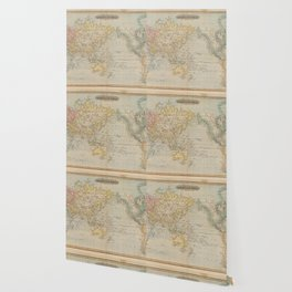 Vintage Map of The World (1823) Wallpaper