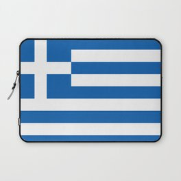 Flag of Greece, High Quality image Laptop Sleeve