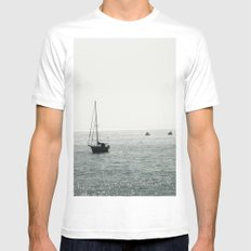 Out At Sea MEDIUM White Mens Fitted Tee
