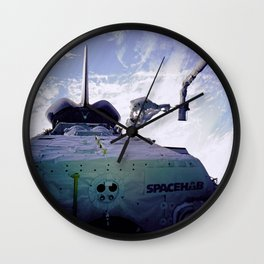 Astronauts Arm in Arm Wall Clock