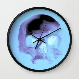 Cyan Skull Wall Clock