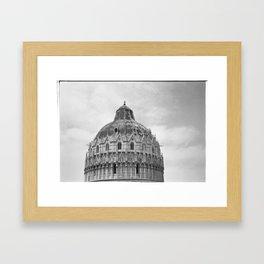 Scanned negative of San Giovanni Baptistery Framed Art Print