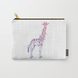 Floral giraffe Carry-All Pouch