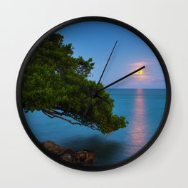 Harvest Moon - The Florida Keys Wall Clock