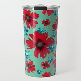 Italian Carnations & Columbines Travel Mug