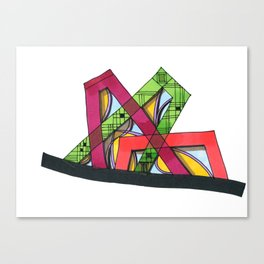 Synagogue Serendipity Geometric Architecture 76 Canvas Print