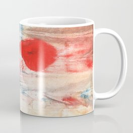 Red Blue watercolor Coffee Mug