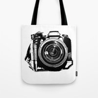 camera Tote Bags featuring Camera by Luisa Mähringer