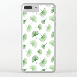 Ginkgo Leaves Clear iPhone Case