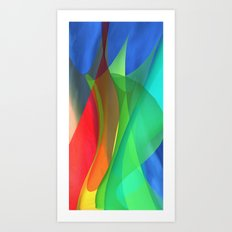 floating colors -c- Art Print