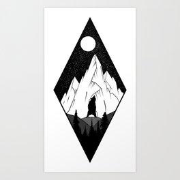Mountains Ink Art Print