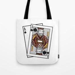 Blackjack 21 Design for a Casino Card Gambler design Tote Bag