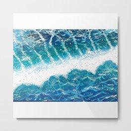 Ocean Painting — Aerial View Ocean Painting — Acrylic Ocean Painting Metal Print