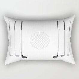 Golf Clubs and Ball Rectangular Pillow