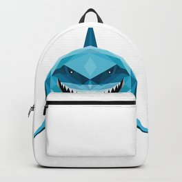 shark blue Backpack